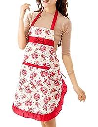 Sanwood Lady de cuisine Tablier de cuisine Motif floral–Assortiment