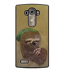 PrintVisa Animated Animal With Cigar High Gloss Designer Back Case Cover for LG G4 :: LG G4 Dual LTE :: LG G4 H818P H818N :: LG G4 H815 H815TR H815T H815P H812 H810 H811 LS991 VS986 US991