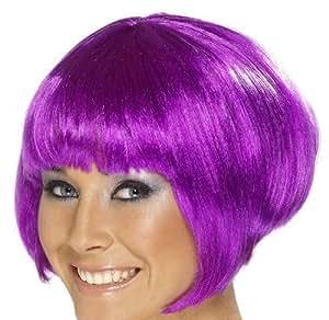 Perruque cabaret courte violette femme
