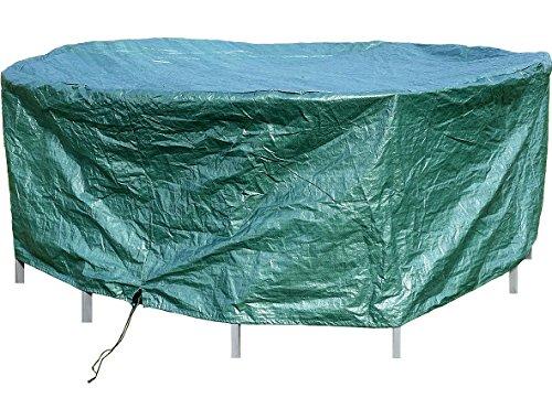 Royal Gardineer Abdeckung Trampolin: Gewebe-Abdeckplane für runde Gartentische, 210 x 76 cm (Ø x H) (Trampolin Abdeckung Winter)
