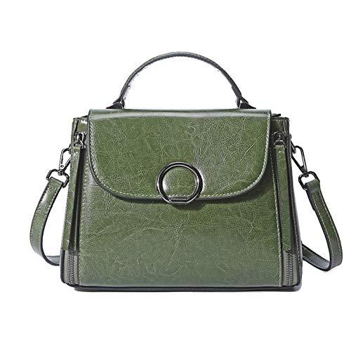 Xmy borse in pelle, pelle donna, tracolla, moda, verde