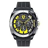 Ferrari Herren-Armbanduhr AERODINAMICO Chrono Analog Quarz Silikon 0830206