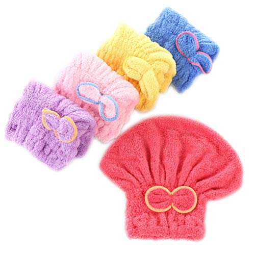 Beaupretty 5 piezas toallas microfibra cabello secado