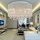 Lámpara de techo cristal moderna simple y elegante de 6 piezas, Lámpara de techo cristal de moda para comedor, Lámpara de techo cristal para dormitorio