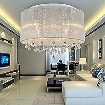 AOLight Lámpara de techo cristal moderna simple y elegante de 6 piezas, Lámpara de techo cristal de moda para comedor, Lámpara de techo cristal para dormitorio