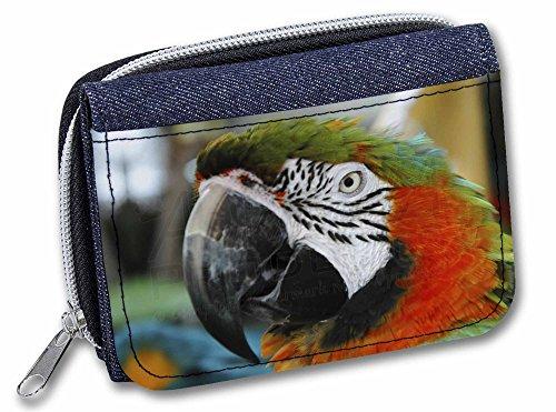 Advanta - Denim Wallet Face of A Macaw Parrot Mädchen/Damen Geldbörse 13cm Denim Blue AB-PA75JW -