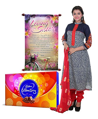 Saugat Traders Gift For Sister - Unstitched Pure Cotton Salwar Suit, Sister...