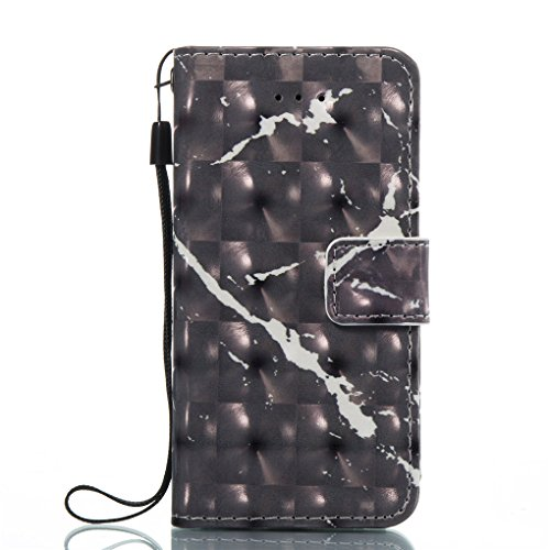 Apple iPhone SE 5 5S Hülle, SATURCASE Einzigartig 3D Stein Muster PU Lederhülle Ledertasche Magnetverschluss Flip Cover Brieftasche Case Handy Tasche Schutzhülle Handyhülle Hülle mit Standfunktion Kar Muster-4