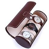 Portable Kunstleder Reisen Uhr Fall Rollen 3 Slot Armbanduhr Box Watch Lagerung Reisetasche