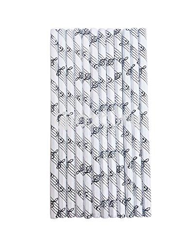 Holz HB Bleistift mit Musik Symbole, schwarz Match, Weiß, 12Stück