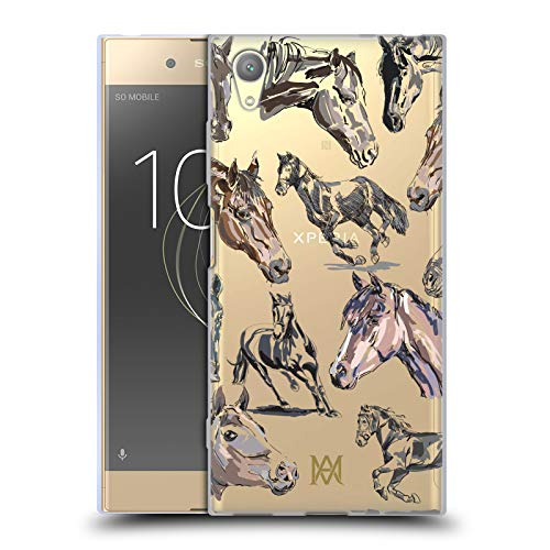 Head Case Designs Offizielle Marie-Antoinette Pferd Der Garten Soft Gel Huelle kompatibel mit Sony Xperia XA1 Plus (Marie Antoinettes Garten)
