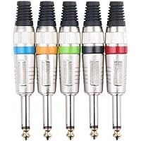 Pronomic JPLUG - Pack de 5 unidades de Jack 6.3 mm, multicolor