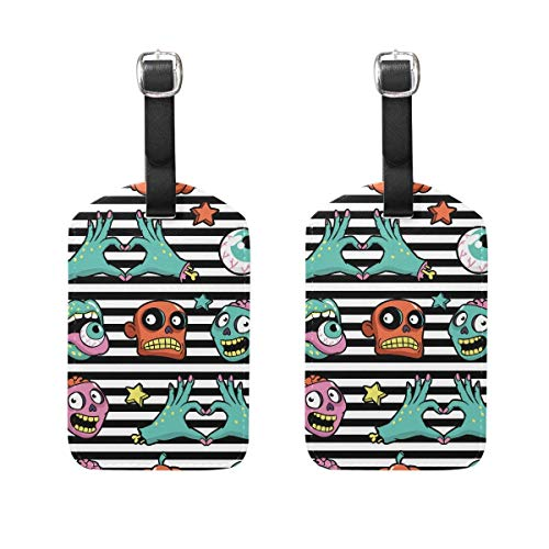 ern Luggage Tags 2 Pieces Set Travel ID Bag Tag for Suitcase ()