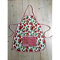 Wachstuchschürze, mit Erdbeeren für Kinder