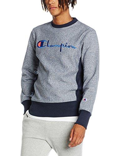 champion-reverse-weave-mens-crewneck-t-shirt-sweatshirt-blue-blue-melange-small