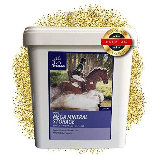 EMMA ♥ Mineralfutter komplex für Pferde I Zusatzfutter B-Vitamine & A,E,C,D, Biotin, Zink, Selen, Bierhefe I Hufwachstum & glänzendes Fell I Senior 5 Kg