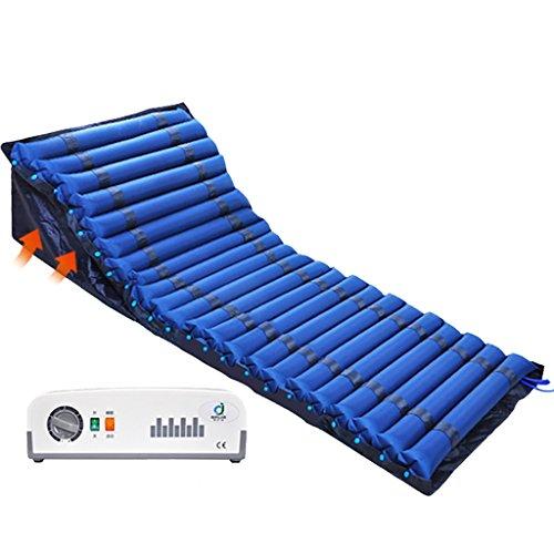 LIU UK Air mattress PVC-aufblasbare Antidekubitus-Matratze für medizinisches Haus, kann den Körper anheben, schließt elektrische Pumpe EIN (tiefes Blau)