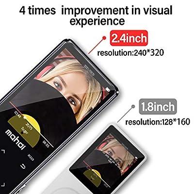 Lecteur MP3 MYMAHDI avec Bluetooth 4.2, Boutons tactiles avec écran de 2,4 Pouces, Lecteur Audio numérique Portable sans Perte de 16 Go avec Radio FM, enregistreur Vocal, Prise en Charge jusqu'à 128 par Weisa Technology Co., Ltd
