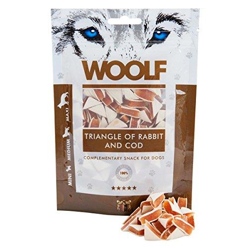 Woolf Cane, Snack Triangolini di Agnello e Merluzzo Gr.100