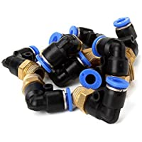 DN Copper + Plastic pneumatico Jointer Connettori gomito montaggio rapido (confezione da 10)