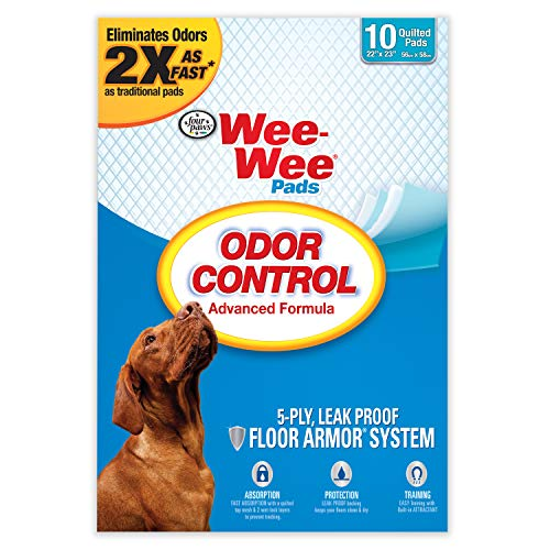 Four Paws Wee Wee Puppy Pee Pads für Hunde, Geruchskontrolle, 10 Ct, n/a -