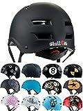 SkullCap® Casco BMX - Casco Skate - Casco Bici, Taglia L (55 - 58 cm), Design: Dark World