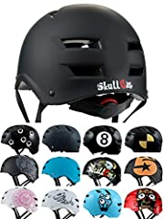 Idea Regalo - SkullCap® Casco BMX - Casco Skate - Casco Bici, Taglia L (55 - 58 cm), Design: Dark World