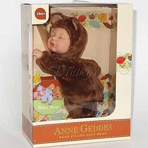 Anne Geddes Bébé - Anne Geddes Baby Brown Bear Doll /