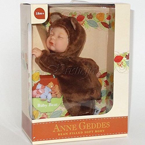 Anne Geddes Bean Filled Soft Body Baby Brown Bear (Geddes Baby Bear Anne)
