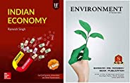 IAS COMBO Indian Economy By Ramsh Singh 10th Edition And ENVIORNMENT By Shankar IAS Academy,For Civil Services, UPSC,IAS,IPS
