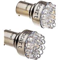 2 PC 1157 T25 BAY15D 2057 2W 19-LED 120-140 LM 6000-6500K Luce bianca fredda auto LED Stop luce di coda (12V),6000K,Bianco