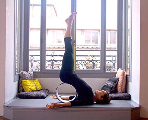 Yoga Wheel© - Happy - Orange + Guide d'utilisation en PDF - L'accessoire indispensable au Yoga (Orange, Unique)