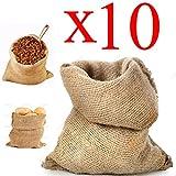 STI Sacco Juta 45x80 Neutro Naturale caffè Cereali Tela yuta Regali 10 Pezzi