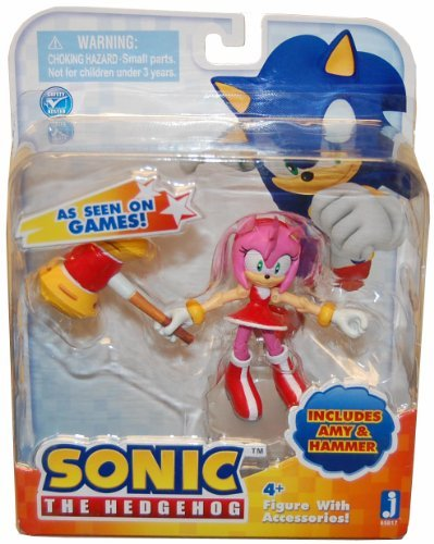 Sonic the Hedgehog Amy 3 Inch Action Figur With Accessories Set Amy & Hammer