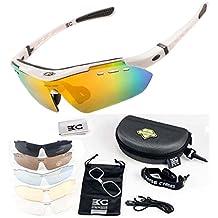 FreeMaster - Gafas de ciclismo con lentes polarizadas, gafas de sol para deporte, antiniebla, protección UV400, para conducir motocicletas, bicicletas de montaña, senderismo, blanco