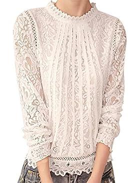 Camisas Mujer Blusas Sueltas Camiseta Manga Larga Camiseta Elegante
