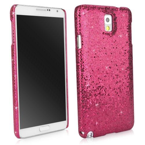 BoxWave Glamour & Glitz Schutzhülle für Samsung Galaxy Note 3passgenaue Back Cover Case mit Glitzer Sparkle Bling Design-Samsung Galaxy Note 3Hüllen (Cosmo Pink) (Jeweled Fall 3 Note Für)