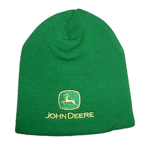 Original John Deere | Mütze | Beanie | Unisex | Einheitsgröße | 100% Acryl | | Stickerei | Grün (John Deere Monitor)