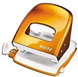 Leitz 5008 NeXXt Series Bürolocher, Metall, bis zu 30 Blatt (orange)