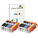 2 Conjuntos ( 10 tinta ) Colour Direct Compatible Cartridges PGI 570XL CLI 571 XL- Reemplazo Para Canon Pixma MG5750 MG5751 MG5752 MG5753 MG6850 MG6851 MG6852 MG6853 MG7750 MG7751 MG7752 MG7753 impresoras .