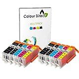 2 Conjuntos ( 10 tinta ) Colour Direct Compatible Cartuchos PGI 570XL CLI 571 XL- Reemplazo Para Canon Pixma MG5750 MG5751 MG5752 MG5753 MG6850 MG6851 MG6852 MG6853 MG7750 MG7751 MG7752 MG7753 impresoras .