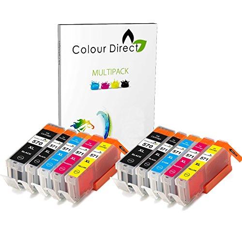 2 Ensembles ( 10 Encre ) Colour Direct Compatible Cartouches PGI 570XL CLI 571 XL- Remplacement Pour Canon Pixma MG5750 MG5751 MG5752 MG5753 MG6850 MG6851 MG6852 MG6853 MG7750 MG7751 MG7752 MG7753 TS5050 TS5051 TS5053 TS5055 TS6050 TS6051 TS6052 TS8050 TS8051 TS8052 TS8053 TS9050 TS9055 Imprimantes.