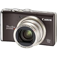 Canon PowerShot SX200 IS Digital Camera - Black (12.1 MP, 12x Optical Zoom) 3.0 inch LCD