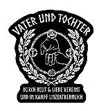 Vater und Tochter in Blut Liebe vereint und im Kampf unzertrennlich Aufkleber Autoaufkleber Sticker Vinylaufkleber Decal