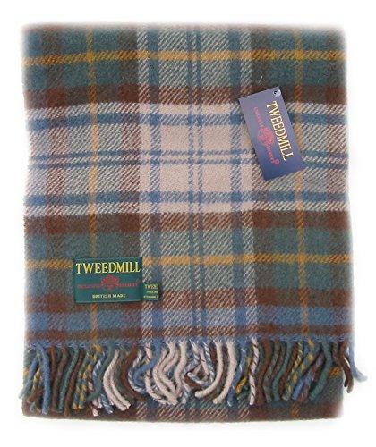 Antik Kleid Gordon Tartan Wolle Picknick Decke Reisen Teppich
