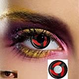 80281lenti a contatto colorate Kakashi Rosso Nero Manga Cosplay Halloween zombie Vampire costumi carnevale