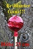 Gartenkugel (R24) Rosenkugel Gartenkugeln Rosenkugeln Glas 25 cm groß (auch mit Rosenkugelstab -Gartenstecker erhältlich)