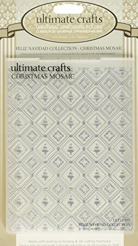 Ultimate Crafts Embossing Folder, 4 by 6-Inch, Christmas Mosaic