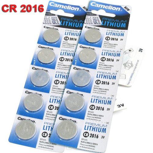 10 PILES CR2016 CAMELION NEUVES EXPIRATION 2020 - ULTRA HAUTE CAPACITE - PILES GARANTIES FRAICHES (Piles vendues juste après fabrication pour éviter toute perte de qualité)