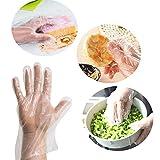 500x Demarkt Transparente Einweghandschuhe Folienhandschuhe für Küche Restaurant Kochen